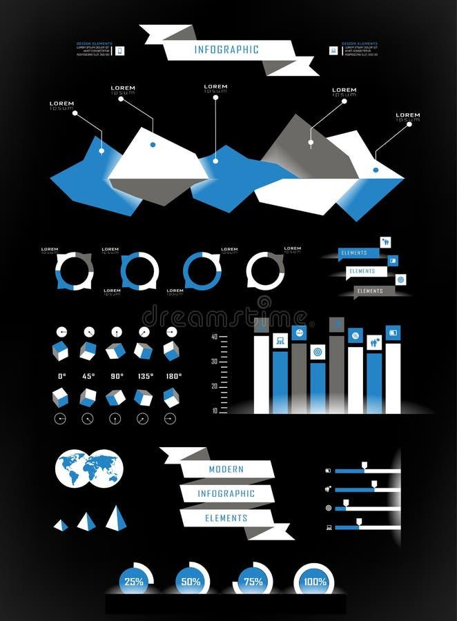 Vastgestelde elementen van infographics vector illustratie