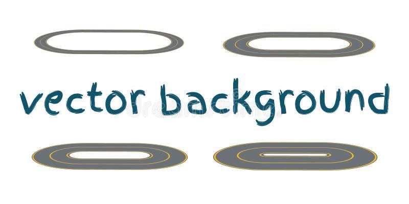 Vastgestelde gebogen routes vector illustratie