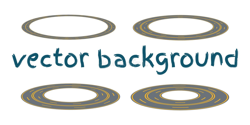 Vastgestelde gebogen routes stock illustratie