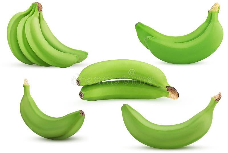 Vastgestelde groene bananenbos, twee, kiest uit royalty-vrije stock fotografie