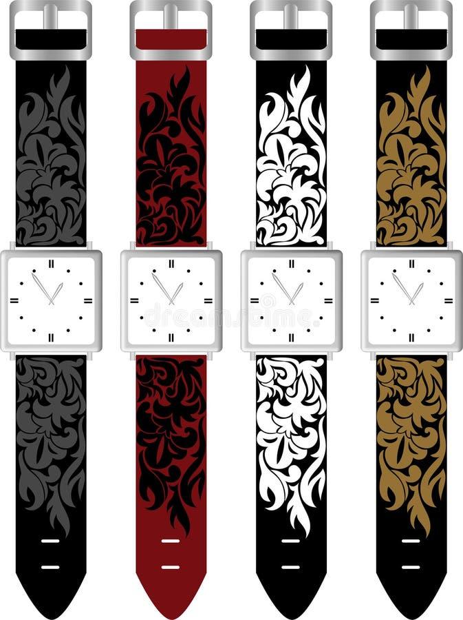 Vastgestelde horloges stock illustratie