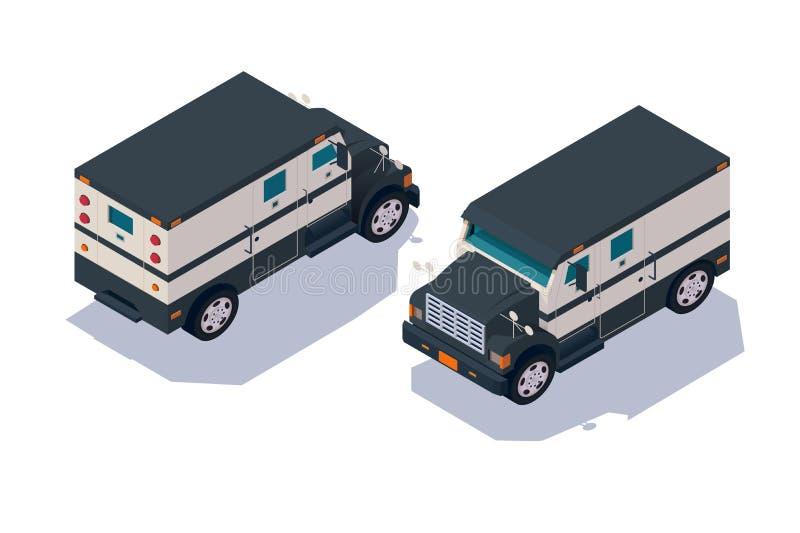 Vastgestelde inzameling, collector Amerikaanse auto voor vervoer, leveringscontant geld, geld stock illustratie