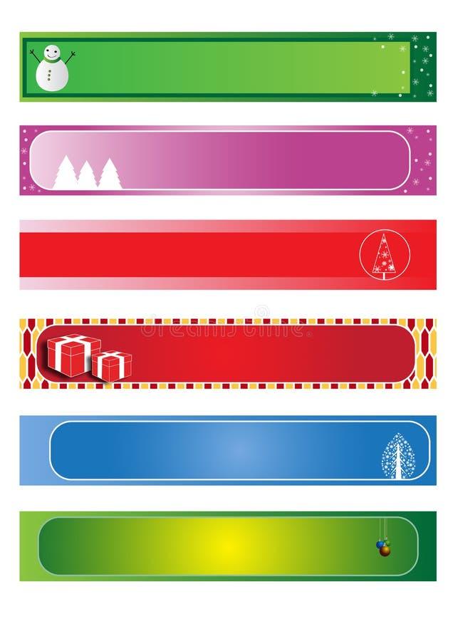 Vastgestelde Kerstmisbanner vector illustratie