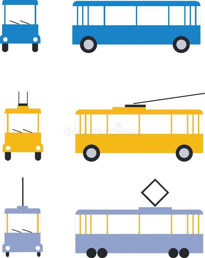 Vastgestelde kleur 01 van het vervoer stock illustratie