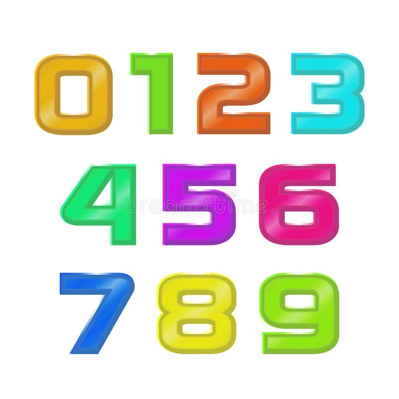 Vastgestelde kleuren 3d geometrische aantallen stock illustratie
