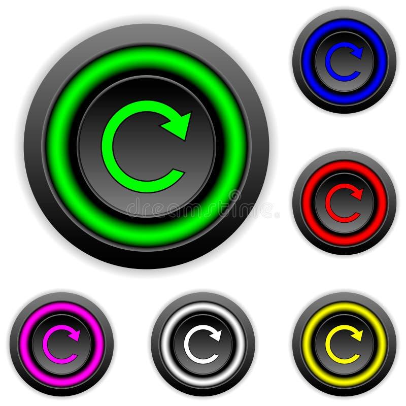 Download Vastgestelde Knopen Met Herhalingsteken Vector Illustratie - Illustratie bestaande uit element, controle: 39101944
