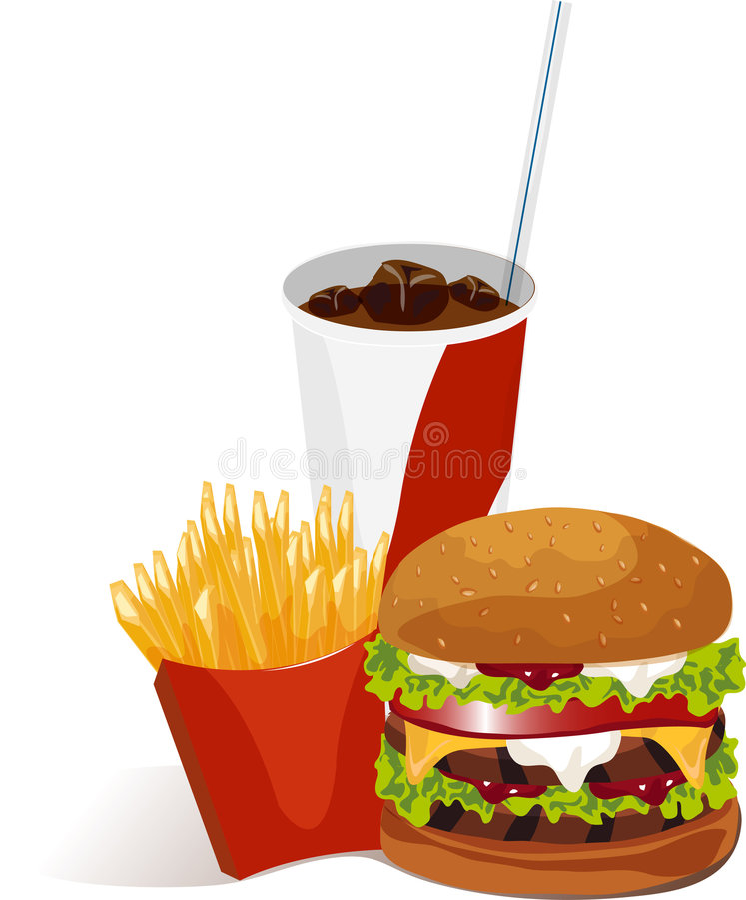 Vastgestelde maaltijd royalty-vrije illustratie