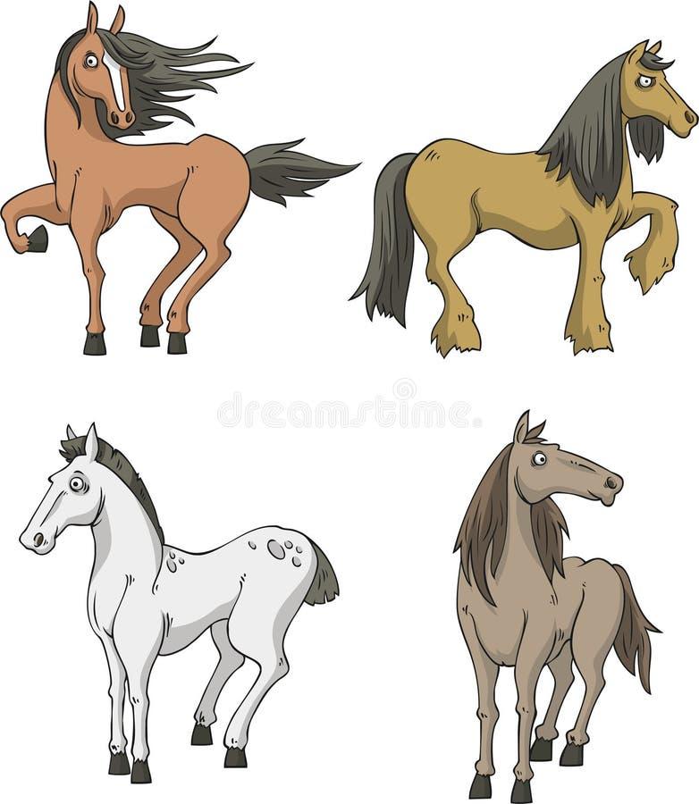 Vastgestelde paarden vector illustratie