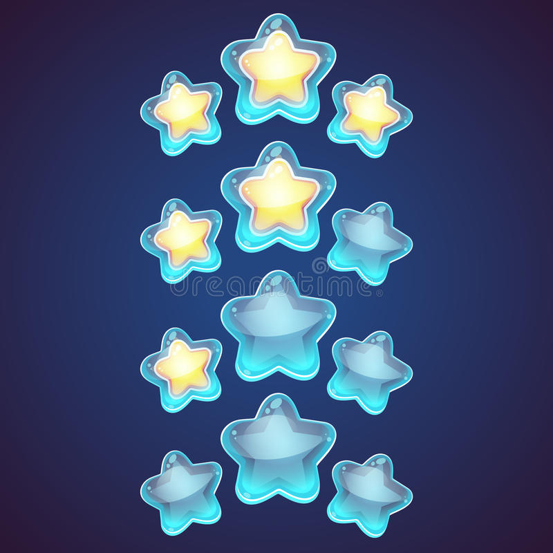 Vastgestelde pictogram van het ster het vectorembleem vector illustratie