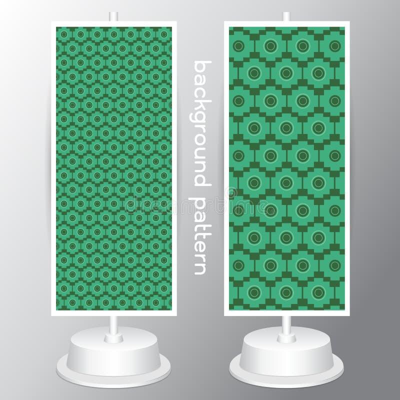 Vastgestelde retro verschillende vector naadloze patronen als achtergrond stock illustratie