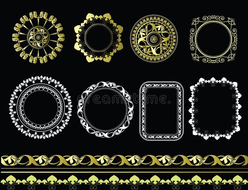 Vastgestelde ronde kaders vector illustratie