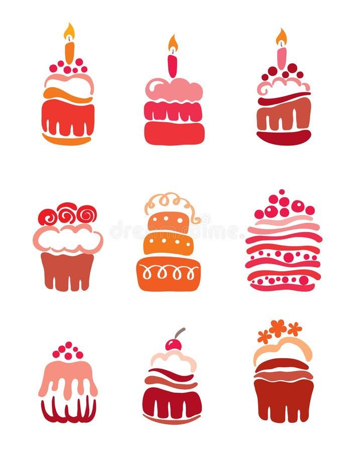 Vastgestelde roze cakes