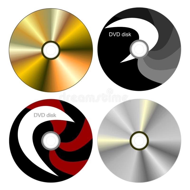 Vastgestelde schijf DVD met beide kanten stock illustratie