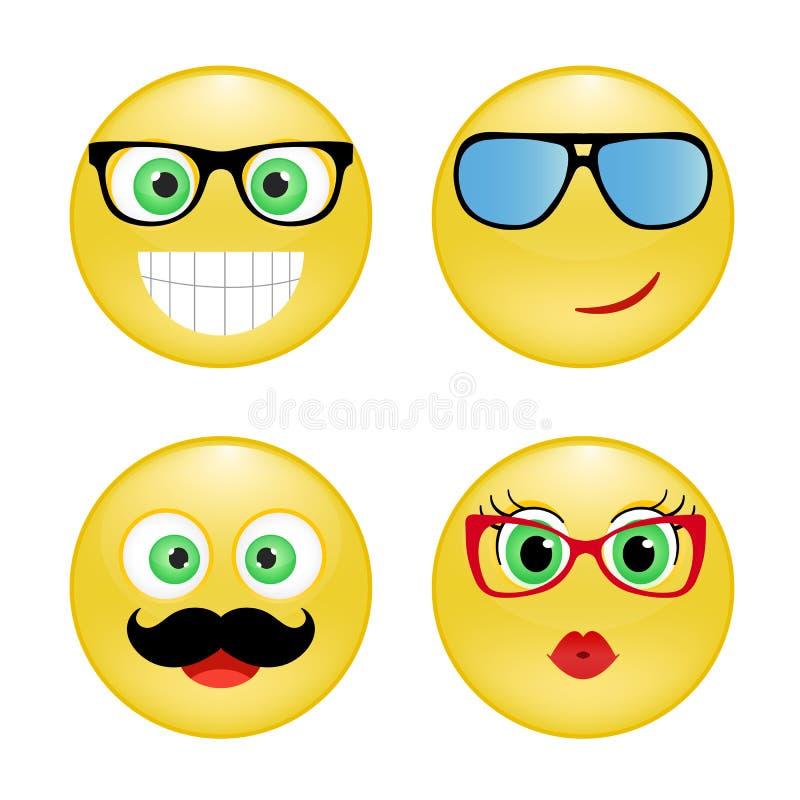 Vastgestelde smiley royalty-vrije stock afbeeldingen