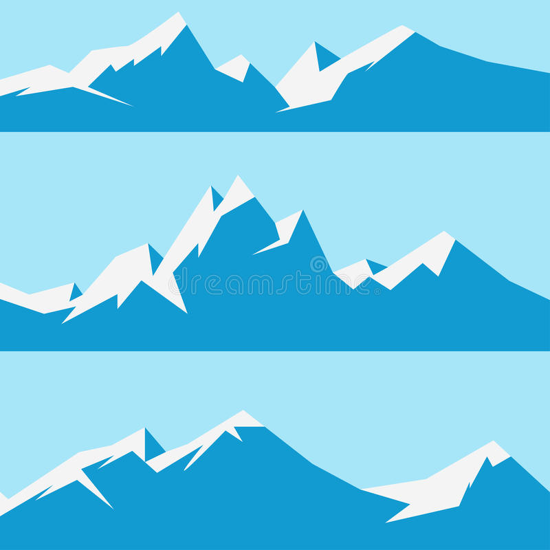 Vastgestelde sneeuwbergen royalty-vrije stock afbeeldingen