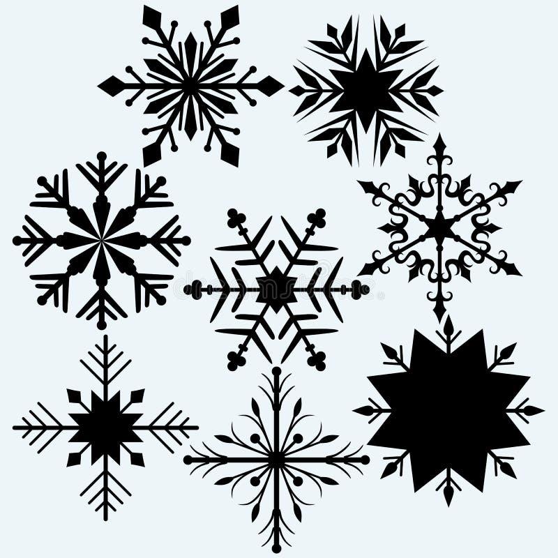 Vastgestelde sneeuwvlok royalty-vrije illustratie