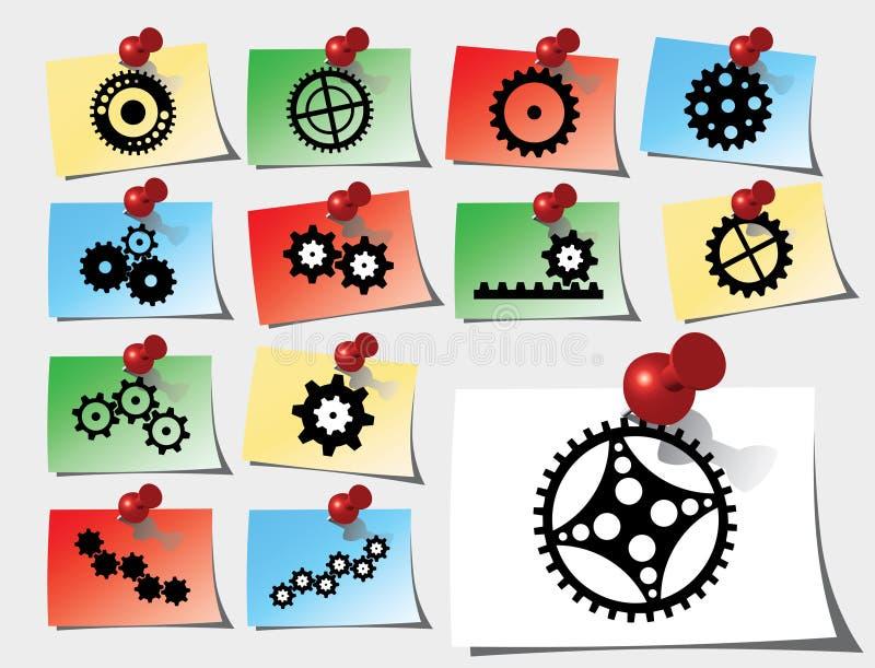 Vastgestelde stickers - 142_S. Toestellen stock illustratie