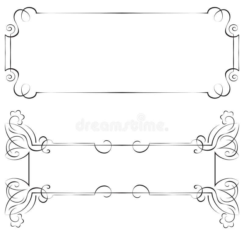 Vastgestelde vectorkaders voor ontwerp royalty-vrije illustratie