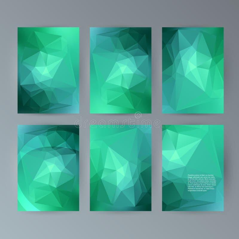Vastgestelde vlieger moderne driehoek als achtergrond design32 stock illustratie