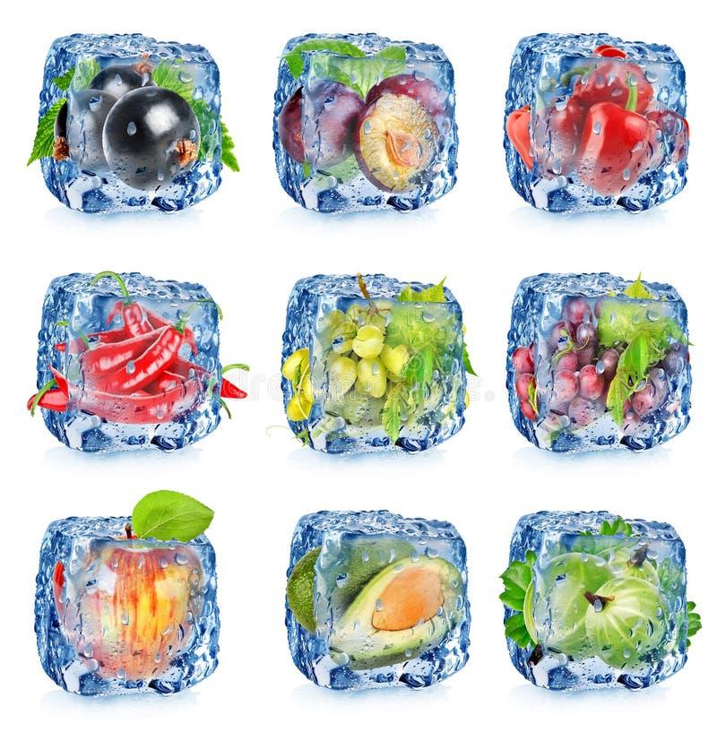 Vastgestelde vruchten en groenten royalty-vrije stock fotografie