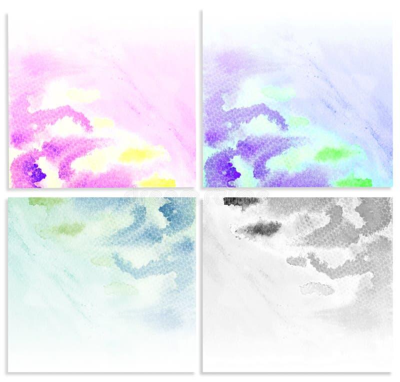 Vastgestelde waterkleur. stock illustratie