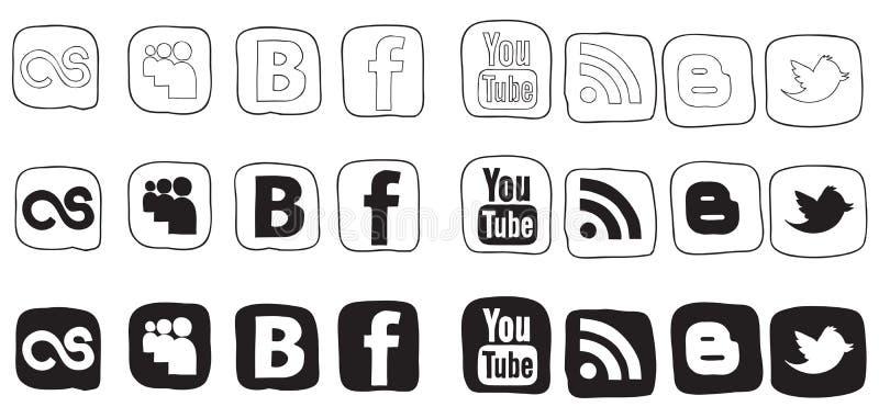 Vastgestelde zwart-witte vectorpictogrammen royalty-vrije illustratie