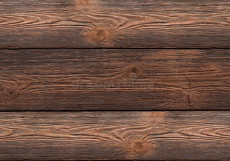 Vasto effetto stagionato del bordo di brashing le linee orizzontali fondo di legno fotografie stock libere da diritti