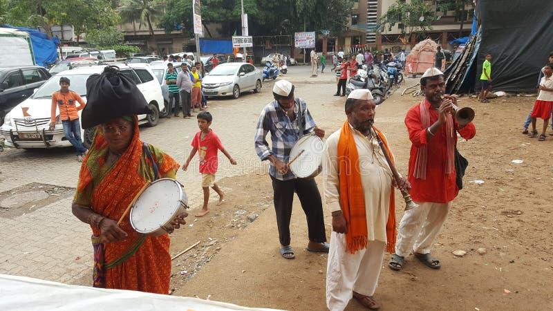Vasudev sångare av maharashtraen royaltyfri fotografi