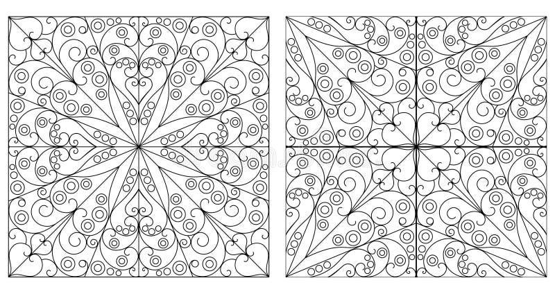 Vat achtergronden samen vector illustratie