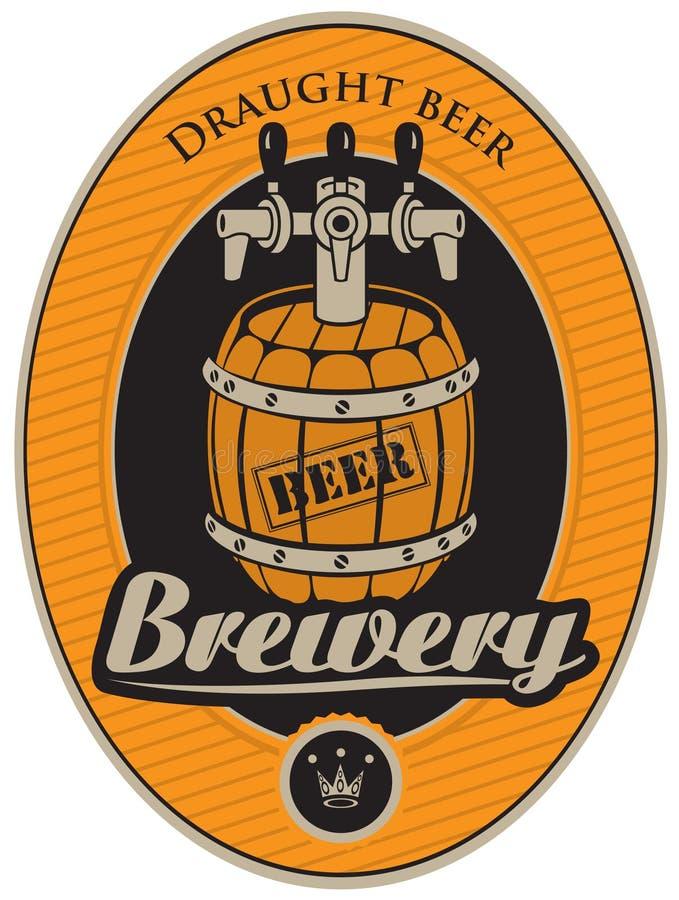 Vat bier stock illustratie