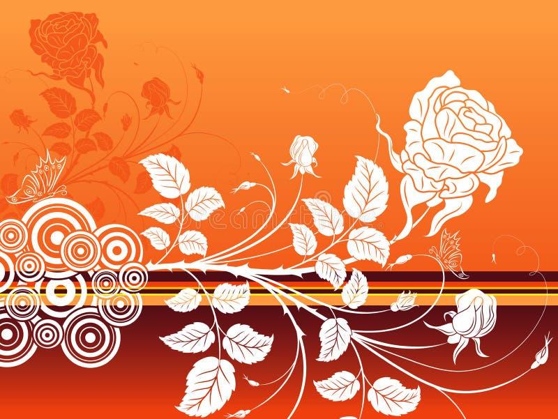 Vat bloemenachtergrond samen royalty-vrije illustratie