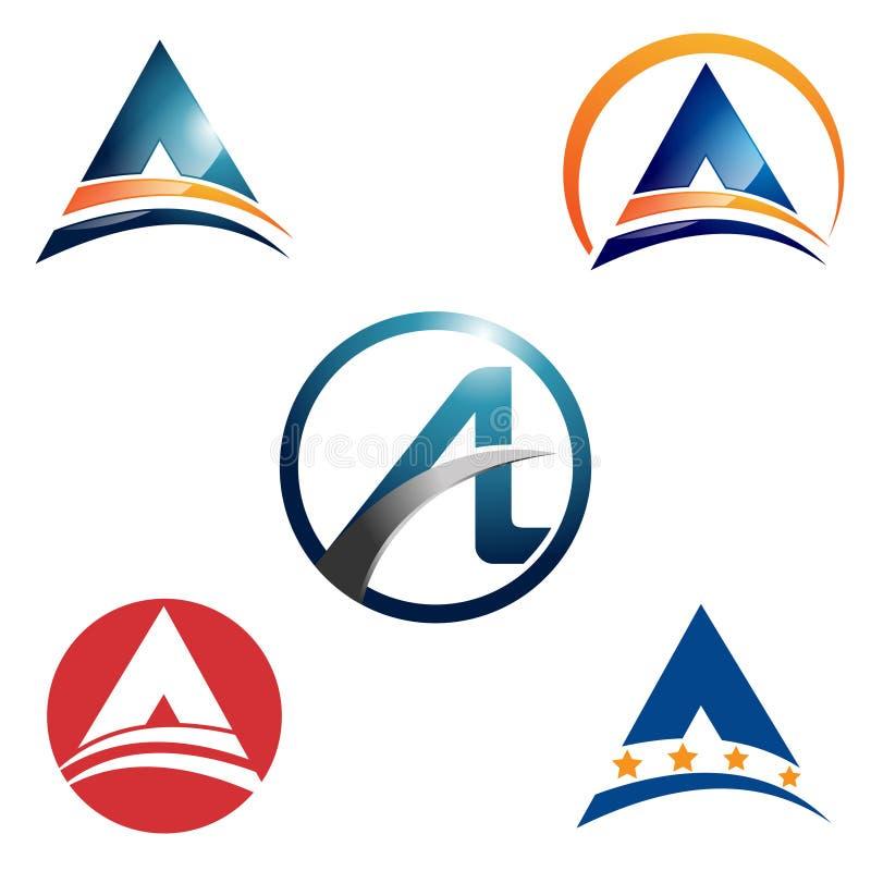 Vat Brievenzaken Logo Template Bundle Set samen vector illustratie