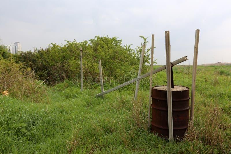 Vat - een cilindrisch vat voor vloeistof royalty-vrije stock foto