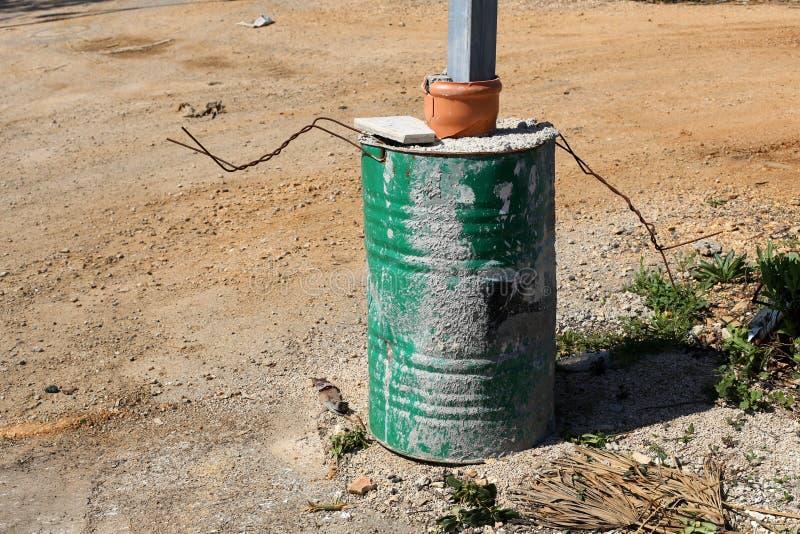 Vat - een cilindrisch vat voor vloeistof royalty-vrije stock fotografie