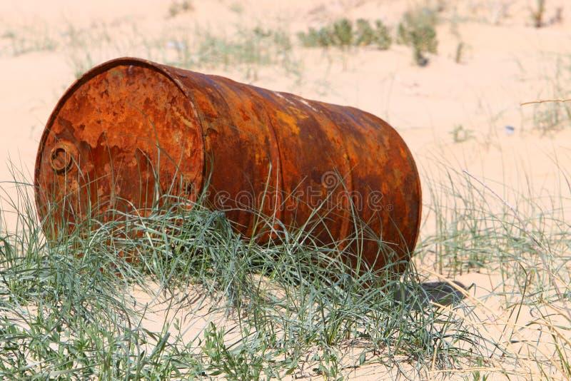 Vat - een cilindrisch vat voor vloeistof stock foto