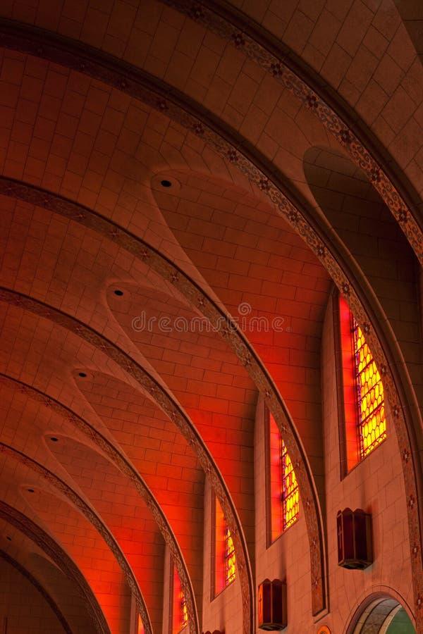 Vat Gewelfd Plafond van de Opdracht Delores Basilica stock foto