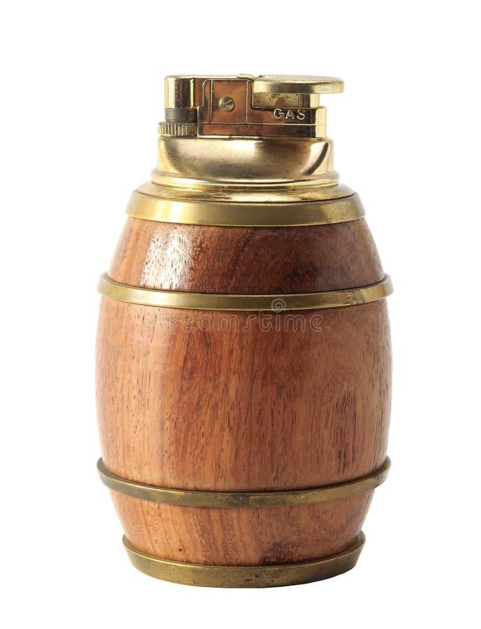 Vat houten aansteker royalty-vrije stock afbeeldingen