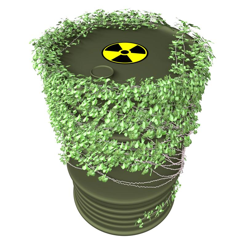 Vat Ivy Nuclear stock afbeelding