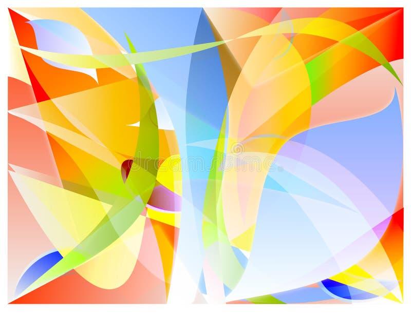 Vat kleurenvector samen stock illustratie