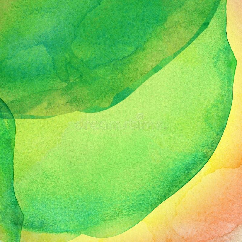 Vat kleurrijke waterverfachtergrond samen royalty-vrije illustratie