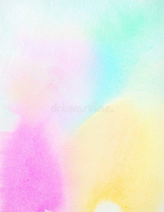 Vat kleurrijke waterverfachtergrond samen stock illustratie