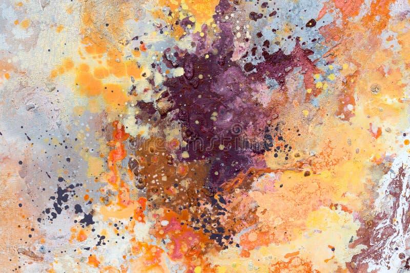 Vat kleurrijke waterverfachtergrond samen Uitspreidende waterverfverf Hand getrokken illustratie royalty-vrije stock fotografie