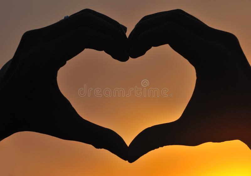 Vat Liefde samen royalty-vrije stock foto's