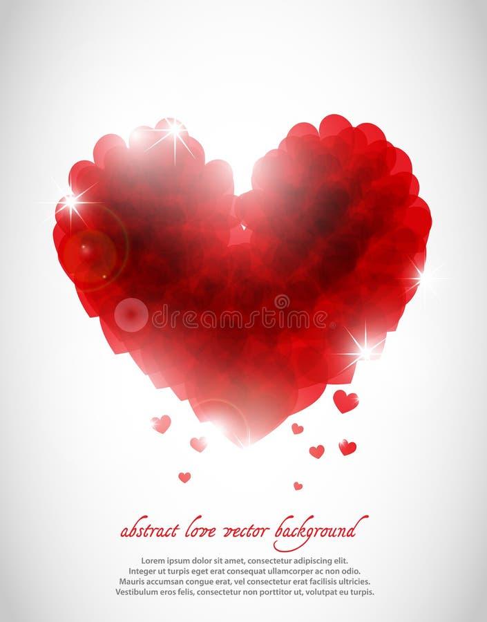 Vat liefdeachtergrond samen royalty-vrije illustratie