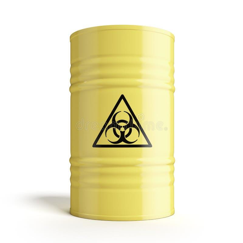 Vat met biohazardsymbool stock illustratie
