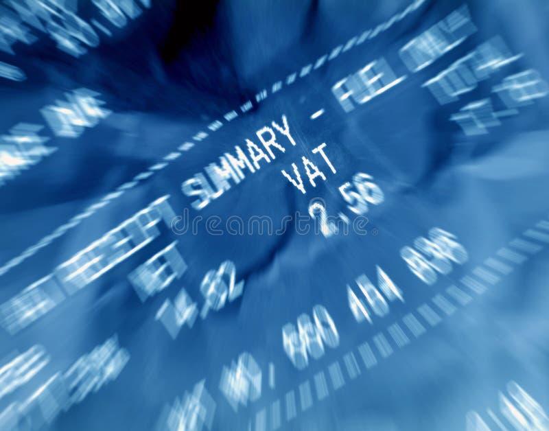VAT receipt royalty free stock images