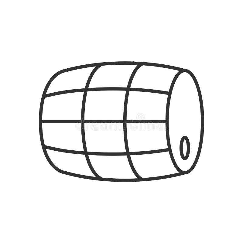 Vat van bierpictogram vector illustratie