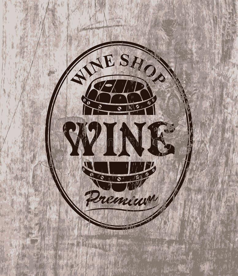 Vat wijn stock illustratie