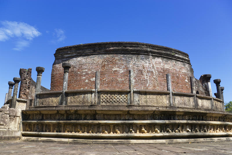Vatadage, Polonnaruwa, Sri Lanka foto de archivo libre de regalías