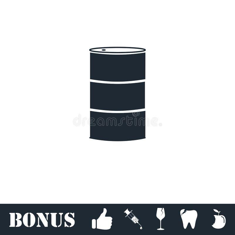 Vaten olie vlakke pictogram vector illustratie